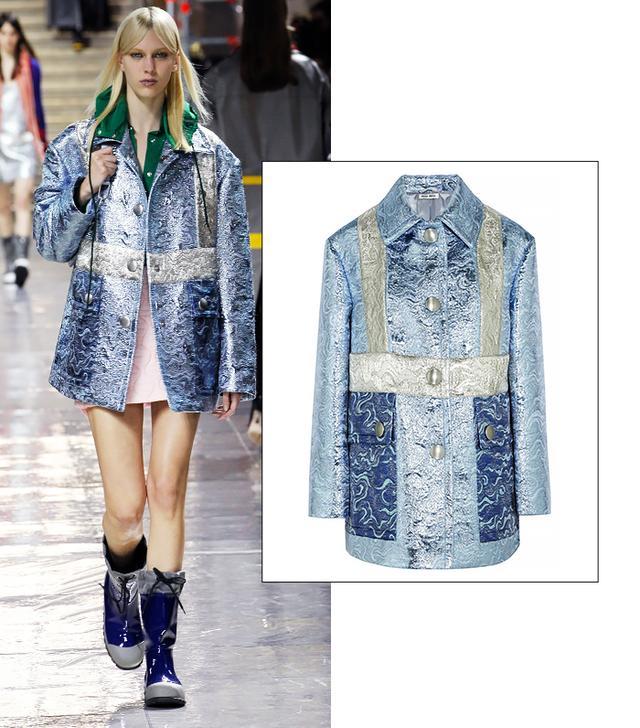 Miu Miu Metallic Jacquard Jacket