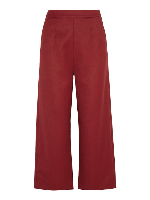 Isa Arfen Wool Wide-Leg Pants