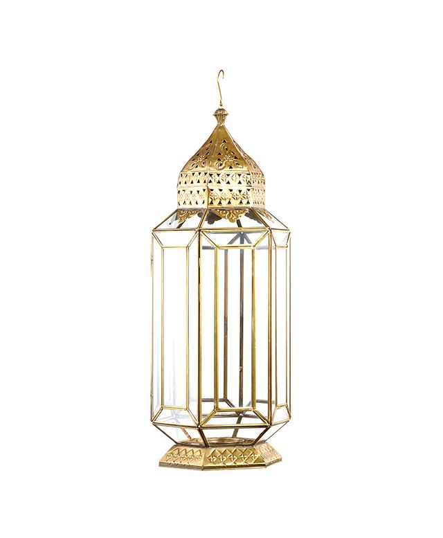 World Market Metal Facet Glass Lantern