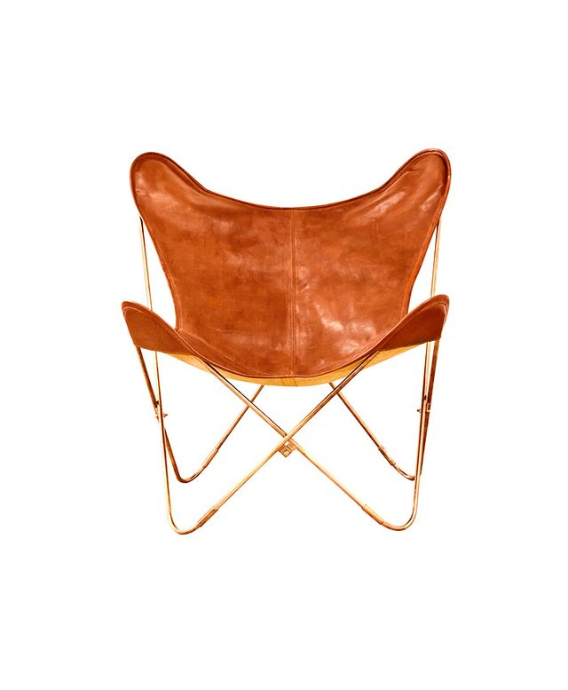 The Palermo Leather Workshop,Target Threshold Copper Leather Butterfly Chair