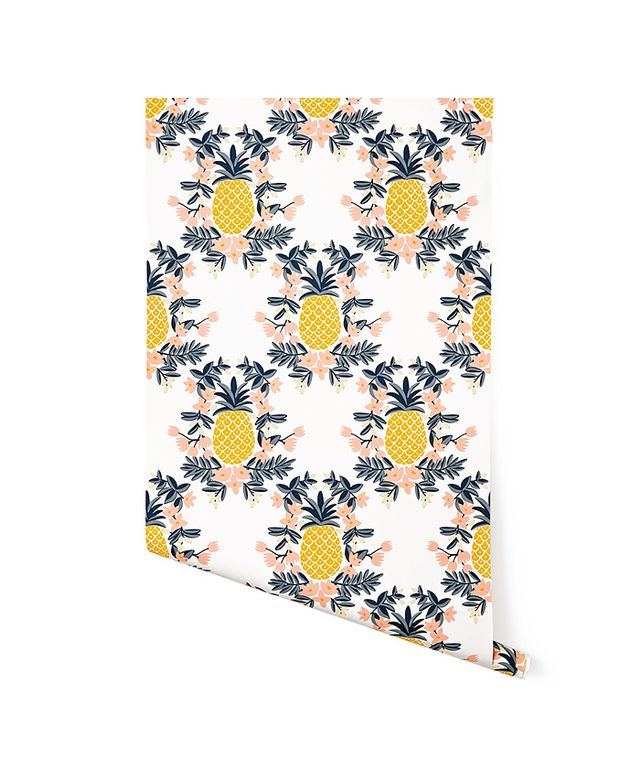 "Rifle Paper Co.,Target Threshold ""Pineapple (Sorbet)"" Wallpaper"