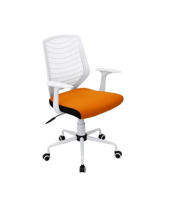 LumiSource Network Office Chair in White/Orange