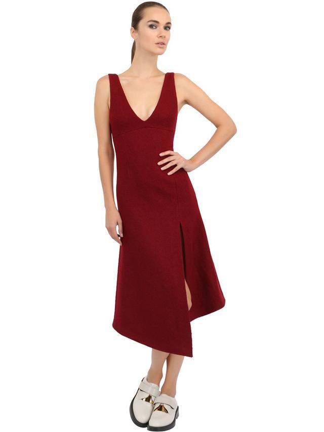 A.W.A.K.E. Sleeveless Wool Blend Dress