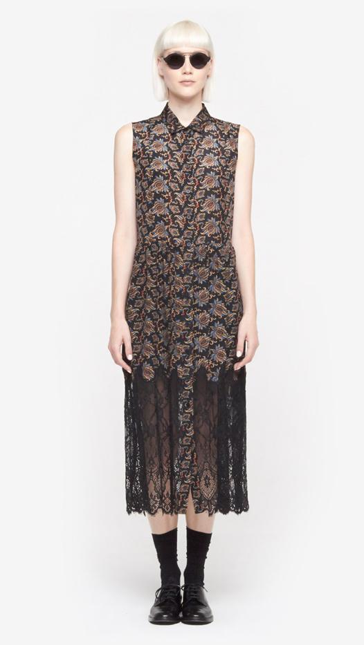 SEA NY Lace Combo Sleeveless Dress