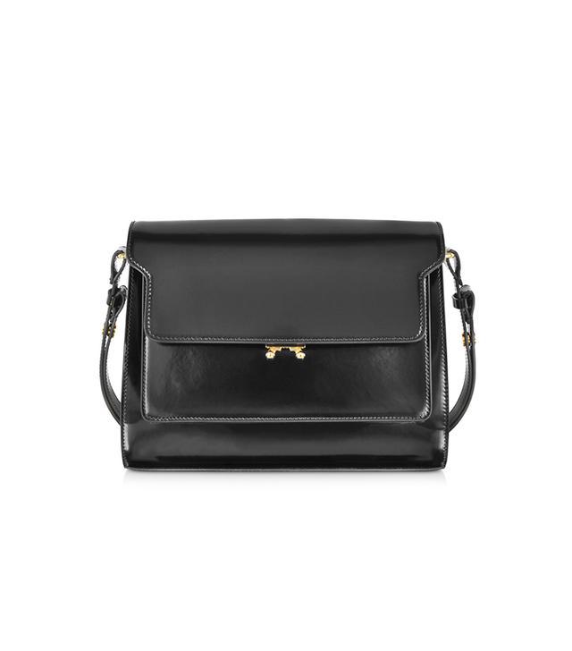 Marni Metal Trunk Carbon Black Handbag
