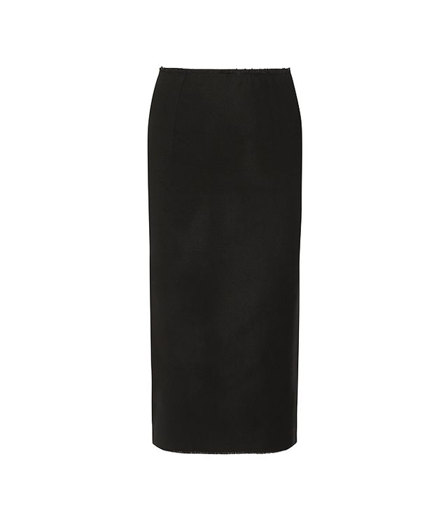 Isabel Marant Dixon Stretch Wool-Blend Midi Skirt