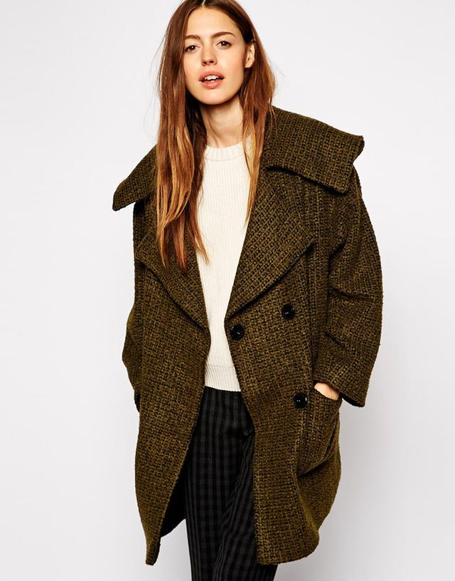 ASOS Textured Hood Coat