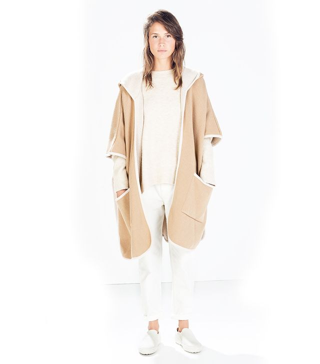 Zara Hooded Cape with Piping