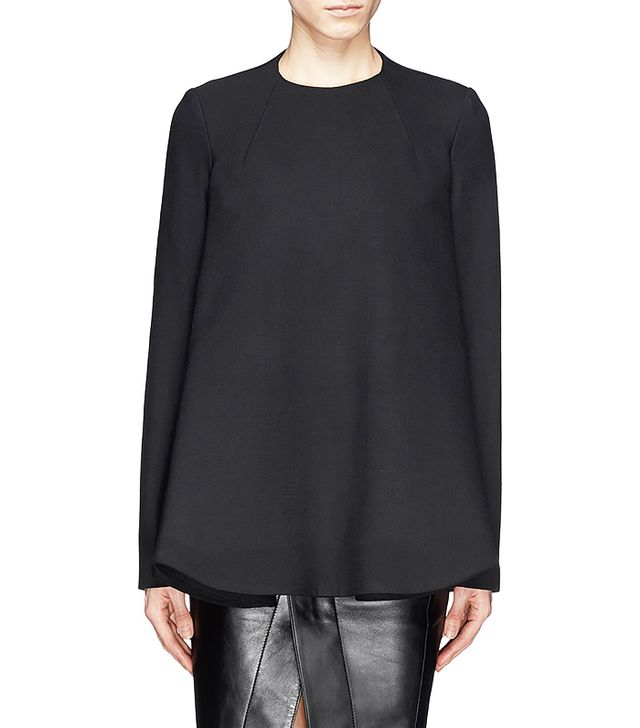 Opening Ceremony Mila Twill Cascade Cape Blouse