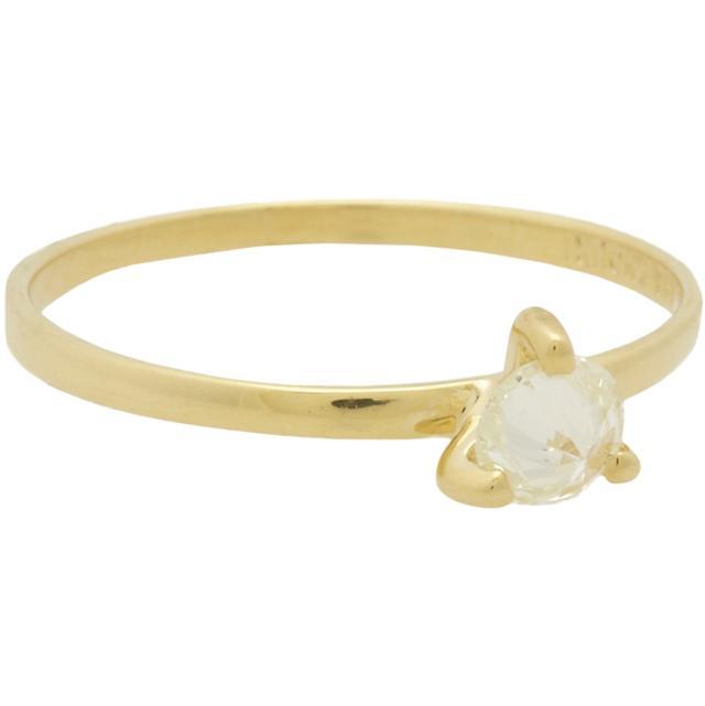 Ana Khouri Diamond & Gold Lea Solitaire Ring