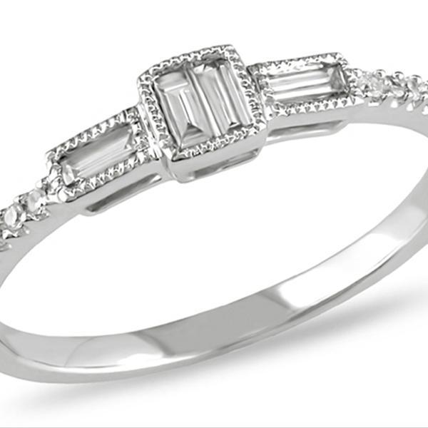 Ice White Gold Bridal Engagement Ring