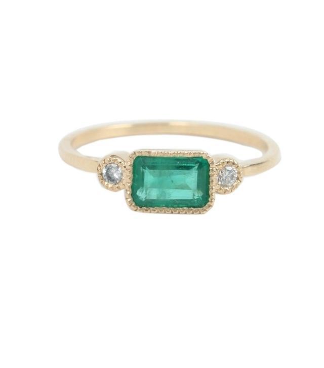 Jennie Kwon Lexie Emerald Ring