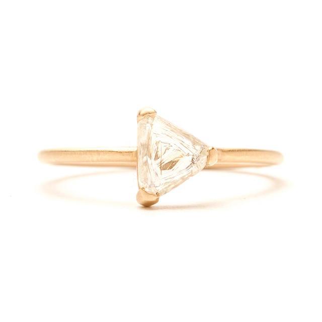 Rebecca Overmann One-of-a-Kind Triangular Diamond Maccle Ring