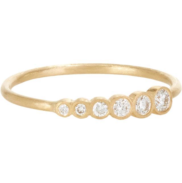 Sophie Bille Brahe Diamond & Gold Pleine de Lune Ring