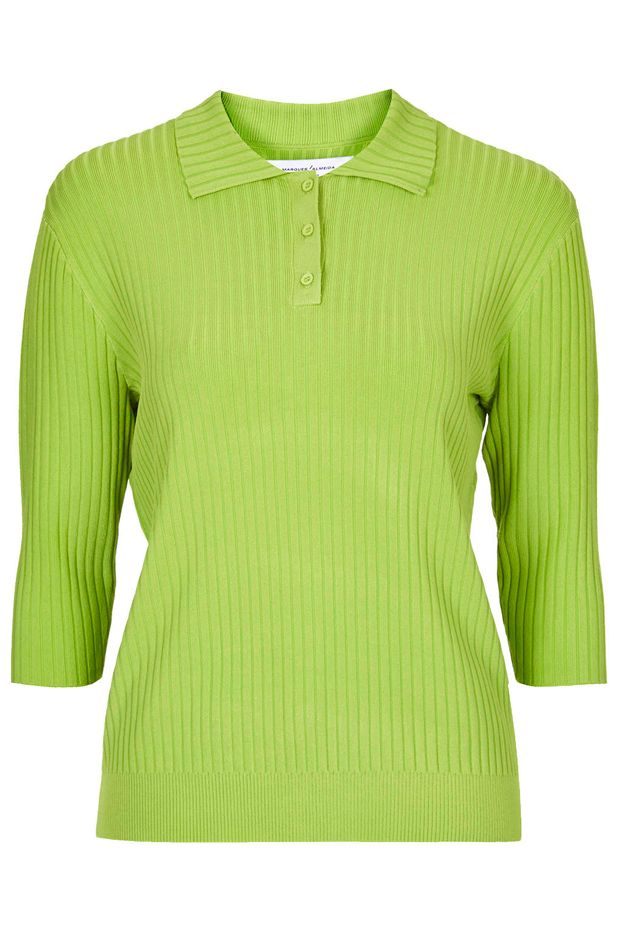 Marques'Almeida x Topshop Rib Knit Polo Top