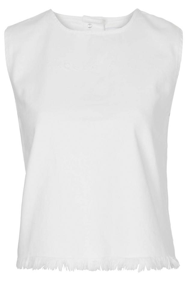 Marques'Almeida x Topshop Frayed Denim Vest Top