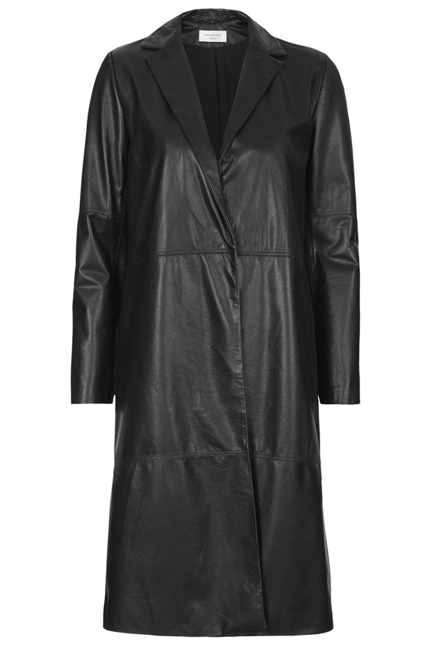 Marques'Almeida x Topshop Leather Midi Coat