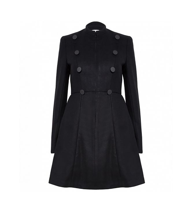 Alice and Olivia Cohen Flare Military Coat