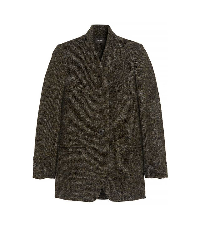 Isabel Marant Etta Wool-Blend Tweed Coat