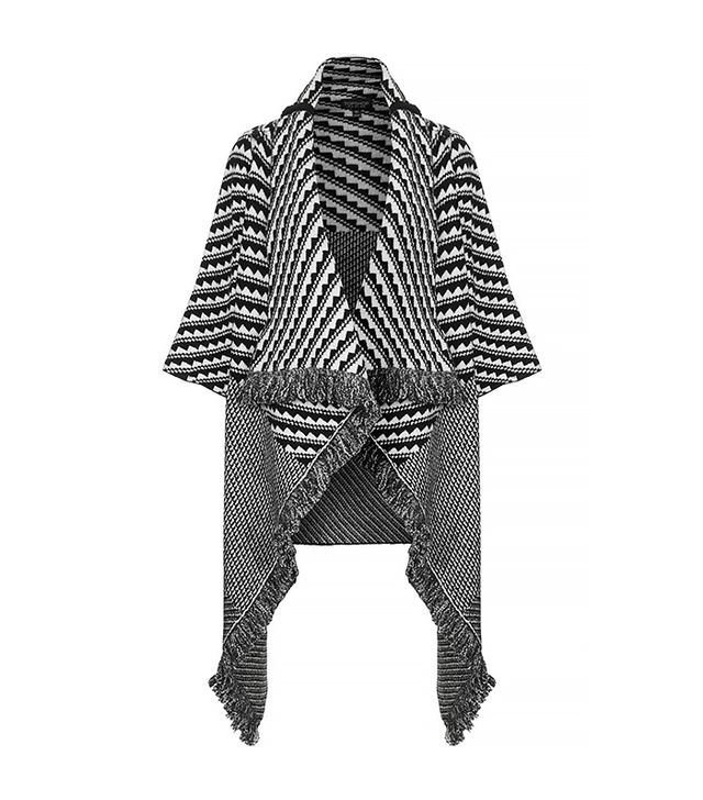 Topshop Pattern Blanket Coat
