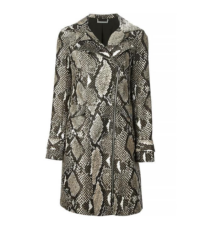 Diane Von Furstenberg Python Print Coat