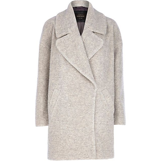 River Island Boucle Oversized Coat