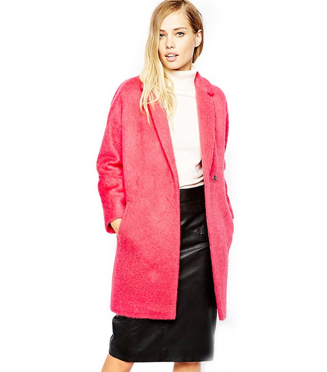 Whistles Ira Textured Cocoon Coat
