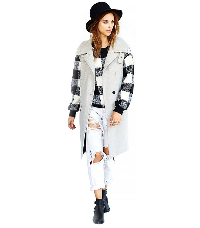 Nasty Gal Gray Area Sleeveless Coat