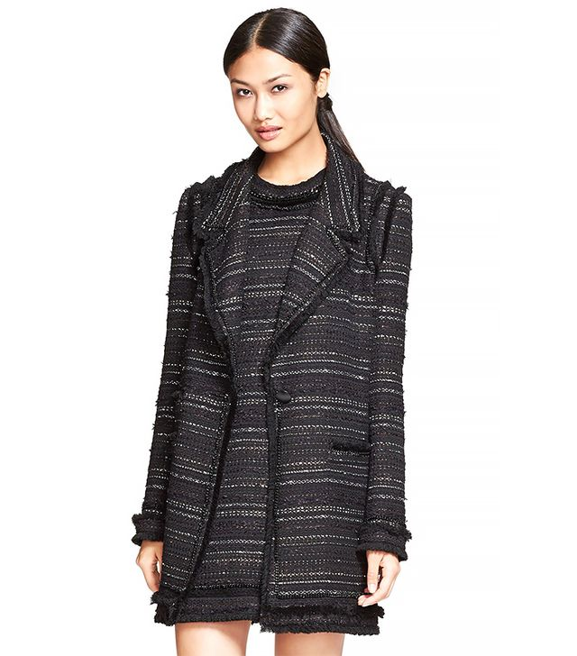 Rachel Zoe Aria Metallic Tweed Overcoat