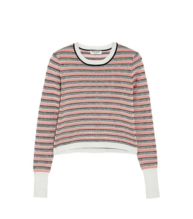 Opening Ceremony Striped Jaquard-Knit Sweater