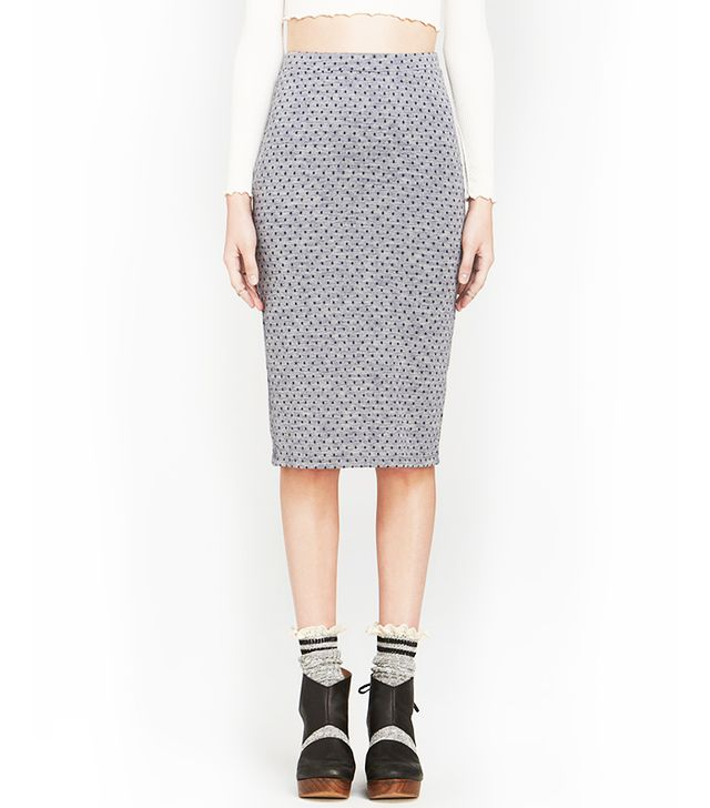 Free People Lost In Dots Pencil Skirt