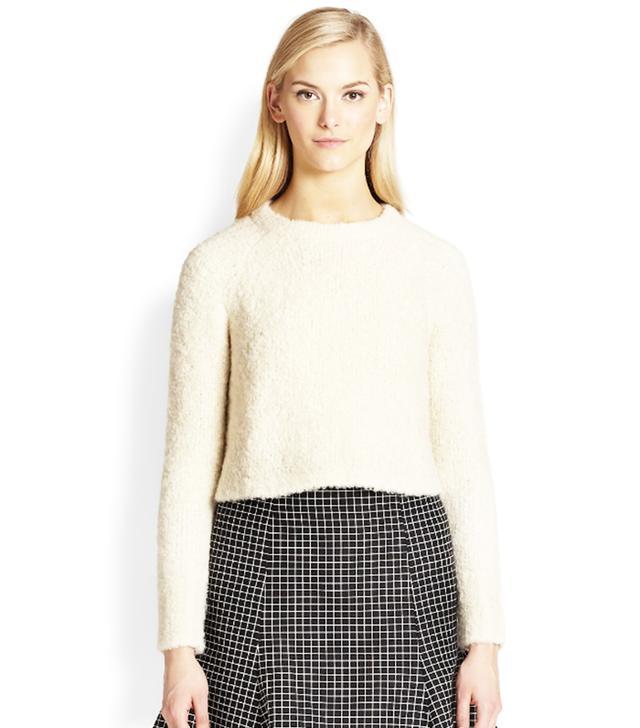 Apiece Apart Anna Cropped Alpaca-Blend Sweater