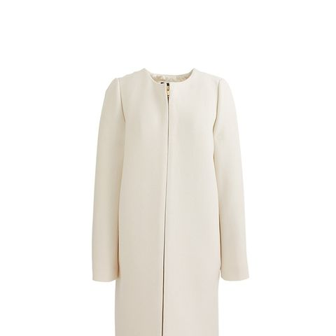 Double-Cloth Collarless Coat