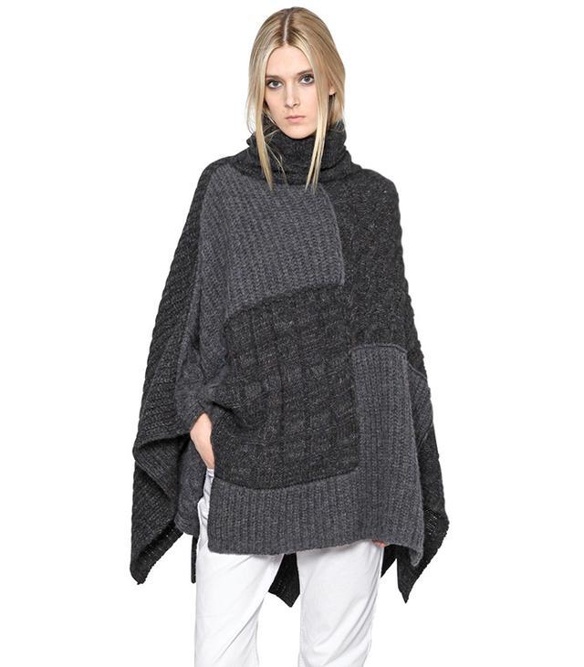 Isabel Marant Étoile Patchwork Wool Blend Poncho