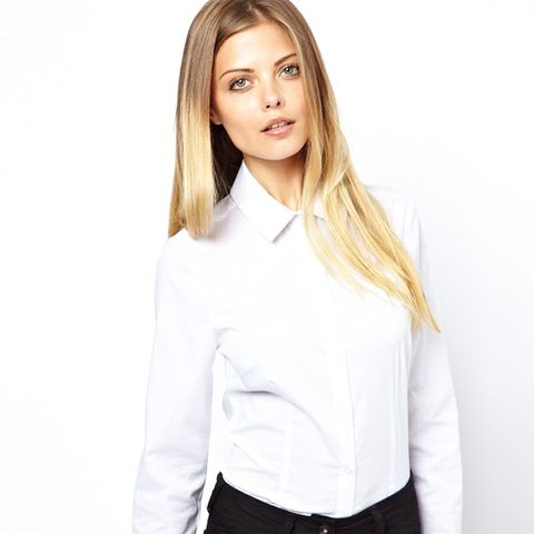 Shirt with Pleat Detail Collar