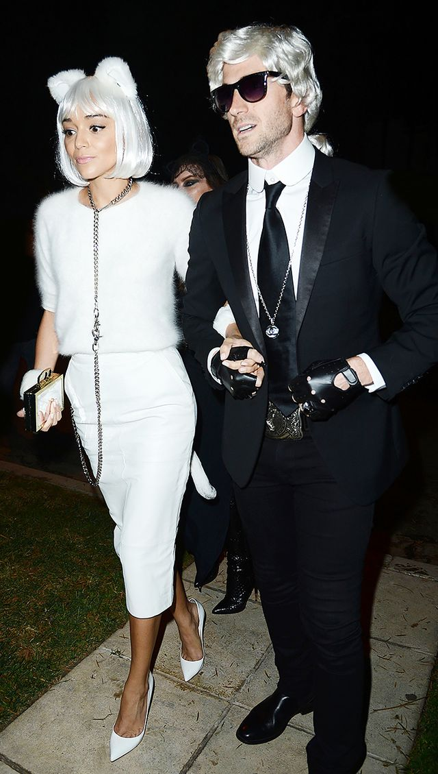 WHO: Ashley Madekwe  WHAT: And the best fashion costume goes to Madekwe for playing Karl Lagerfeld's cat Choupette.