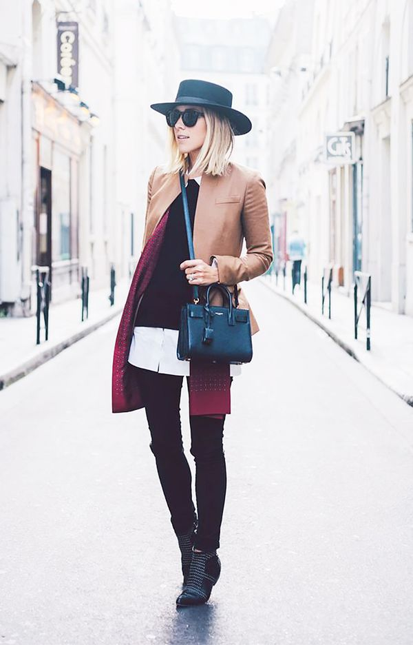 Cropped Jacket + Sweater + Button-Down Shirt