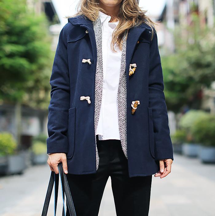 Street Style Layering Toggle Coat