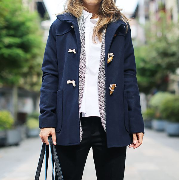Toggle Coat + Jacket + Button-Down Shirt