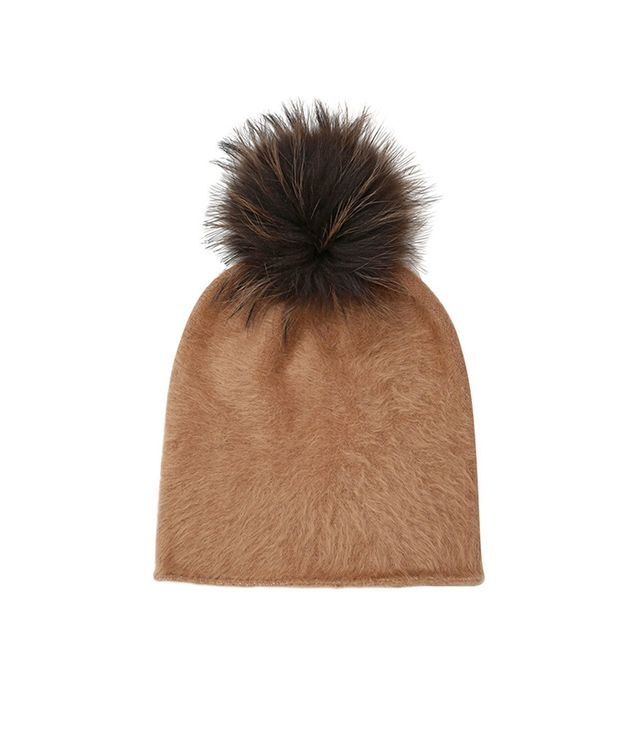 Kreisi Couture Papalina Shearling Hat with Pompom