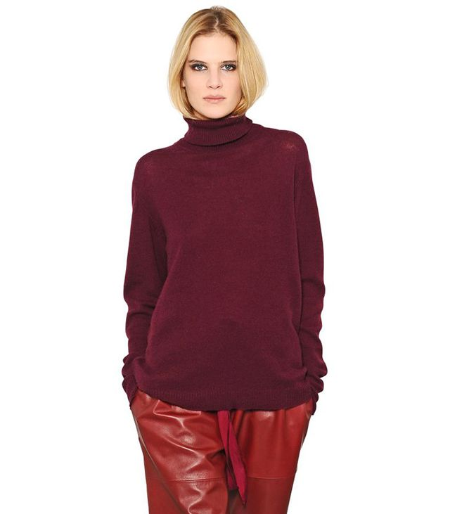 Nina Ricci Blend Wool Cashmere Turtleneck Sweater