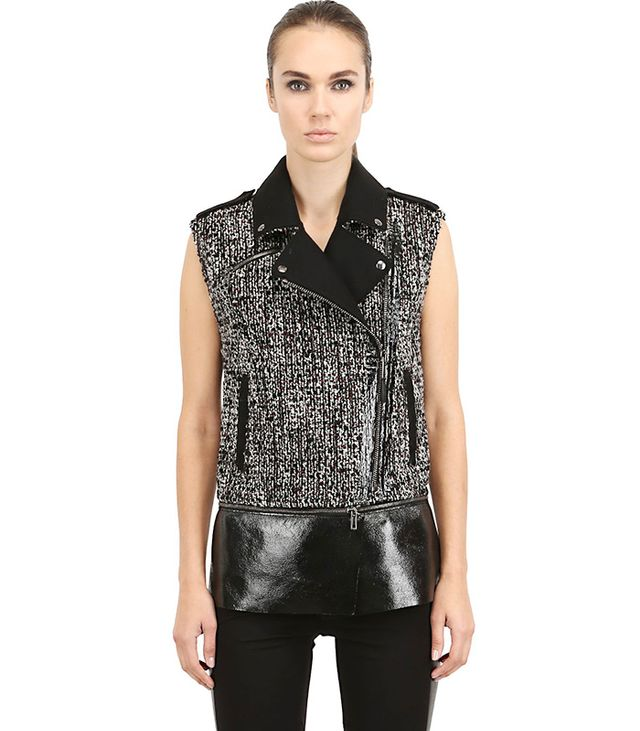 Costume n Costume Boucle Wool Vest with Nappa Leather