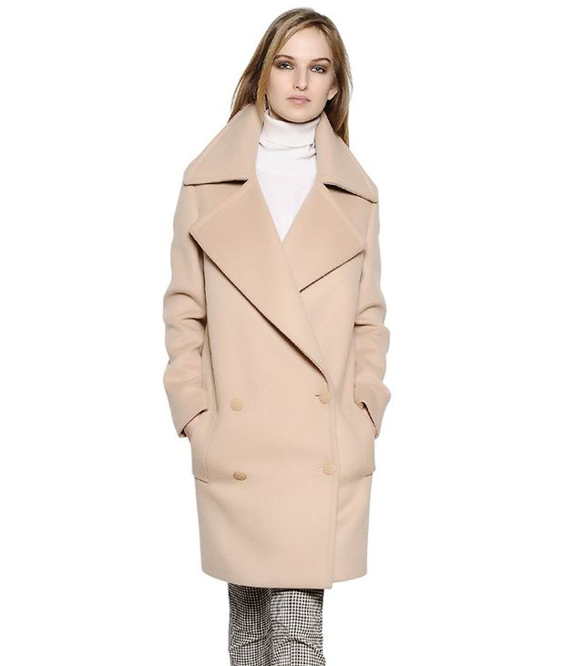 Stella McCartney Double Breasted Compact Wool Coat