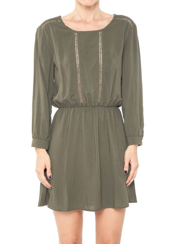 Anine Bing Long Sleeve Dress