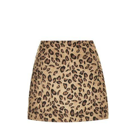 Leopard Print Pelmet Skirt