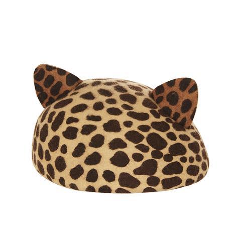 Caterina Leopard-Print Hat