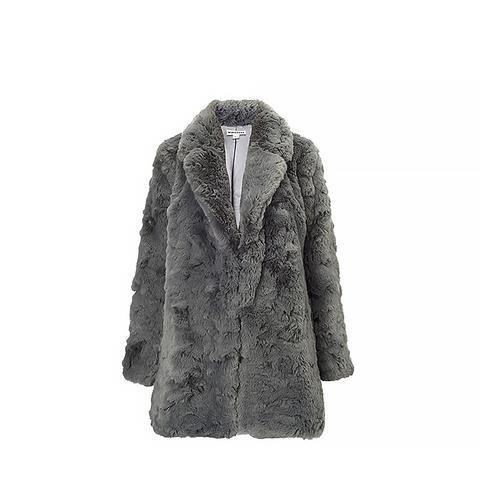Kumiko Textured Faux Fur Coat
