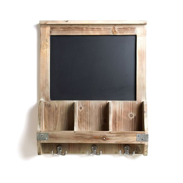 Cost Plus World Market Elliot Chalkboard Cubby and Hook Wall Storage