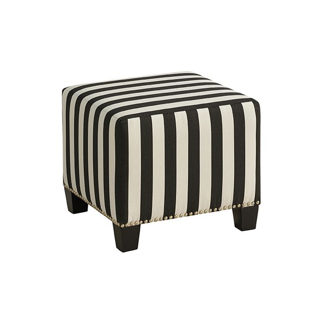 Cost Plus World Market Canopy Stripe McKenzie Ottoman