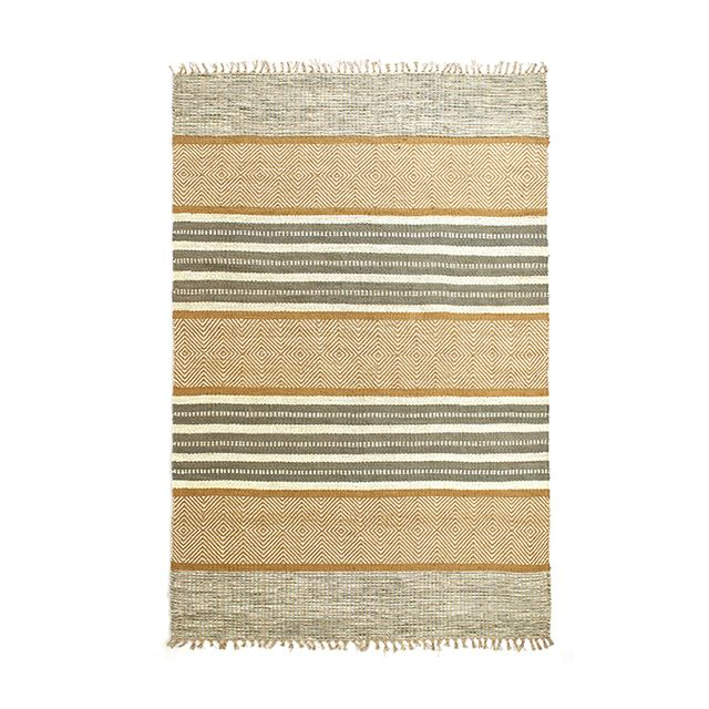Cost Plus World Market Grey and Natural Ellie Jute Area Rug